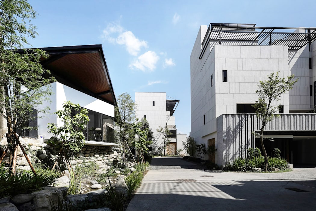 三連棟鋼構屋 大桓設計顧問有限公司 組合屋 金屬 White