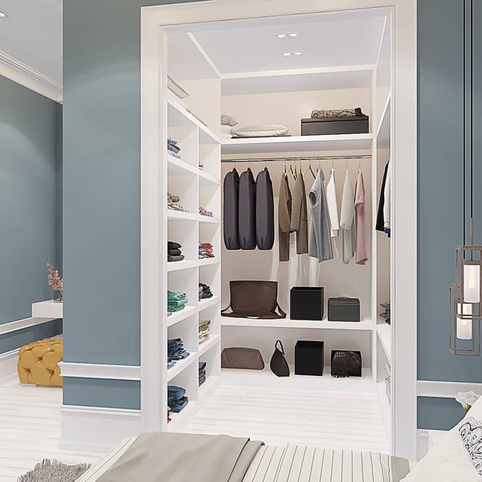 Уютная трехкомнатная квартира в духе французского кантри: Гардеробные в . Автор – design4y