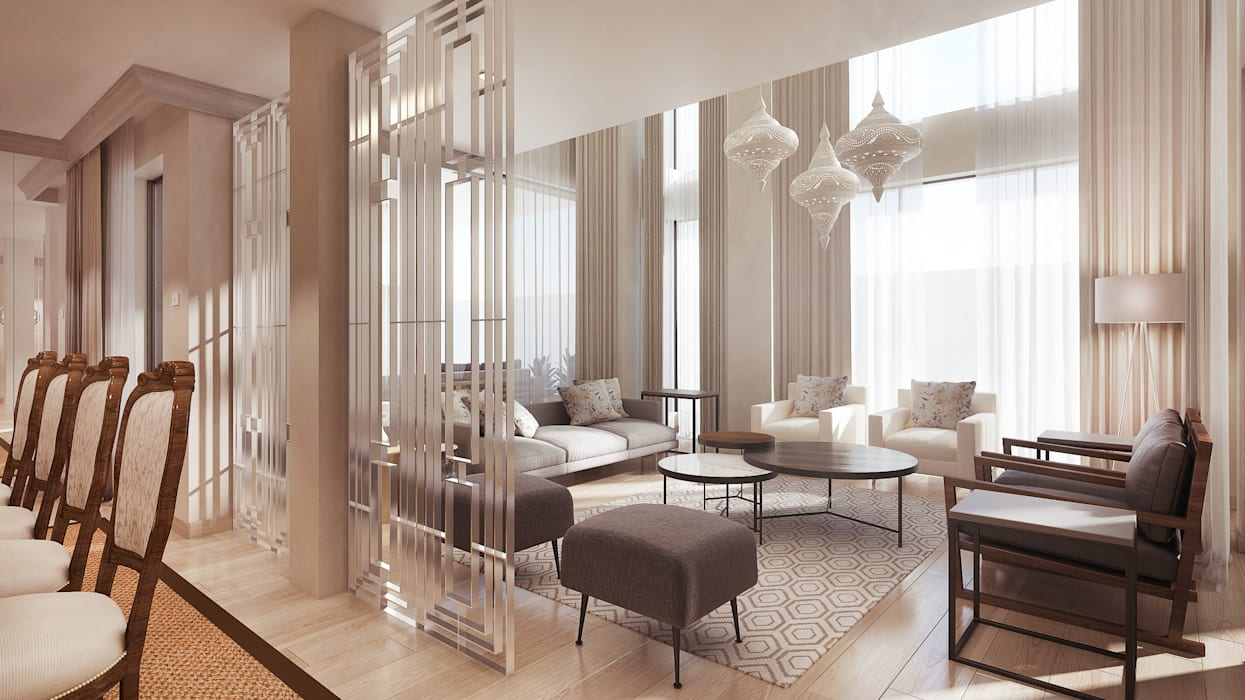 The lounge Modern living room by Dessiner Interior Architectural Modern