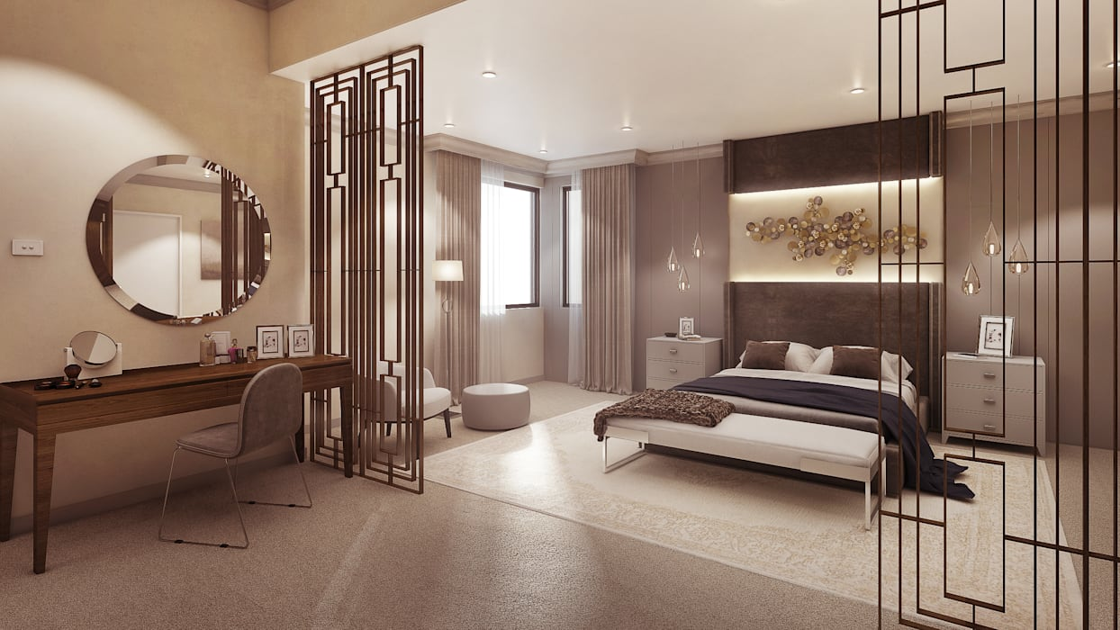 The main bedroom Modern style bedroom by Dessiner Interior Architectural Modern