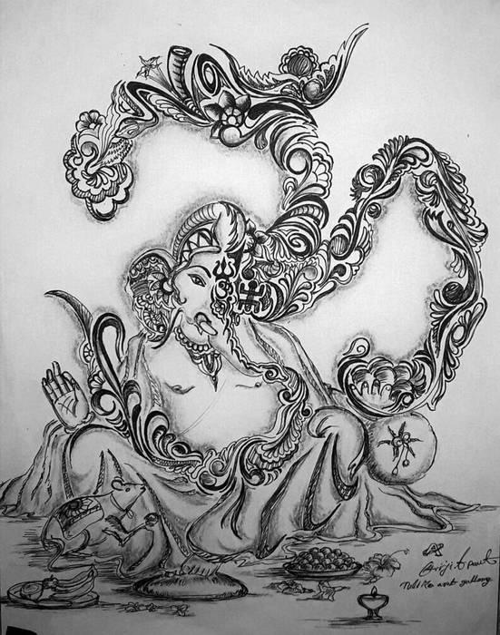 Omm Ganesha: asian  by Indian Art Ideas,Asian