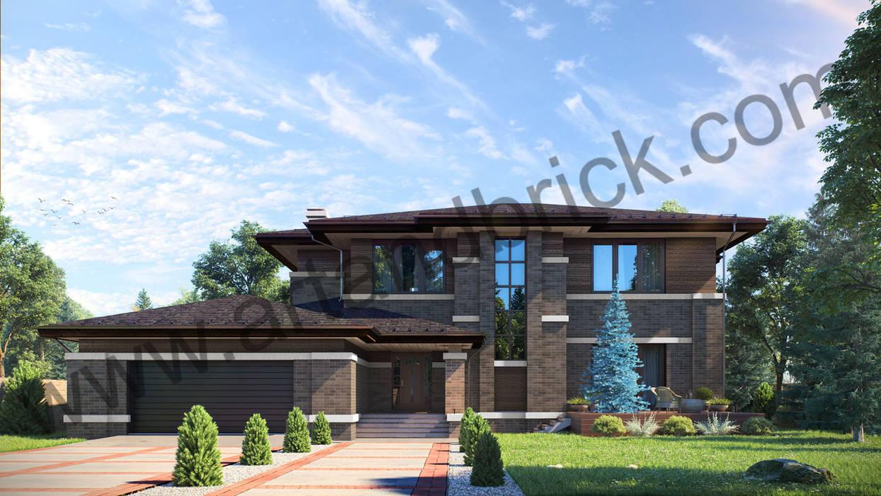 Проект дома в стиле Райта: Дома в . Автор – Архитектурное бюро Art&Brick