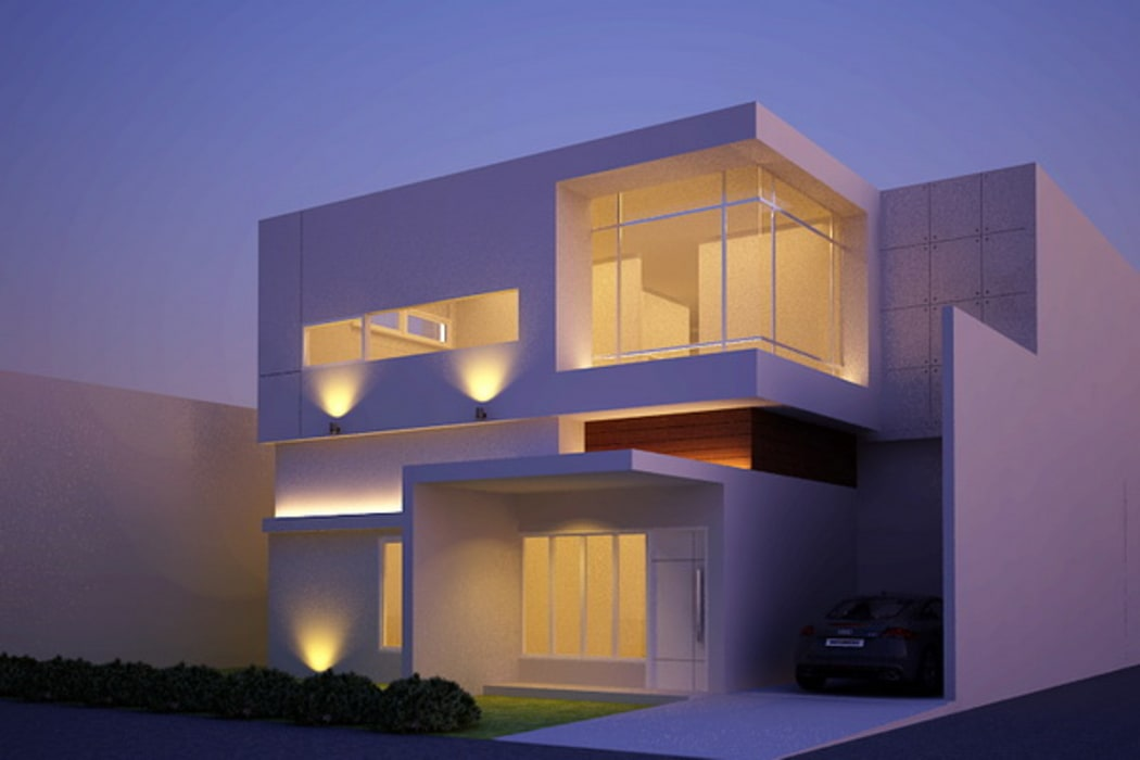 night view-1: Rumah oleh Cendana Living, Minimalis