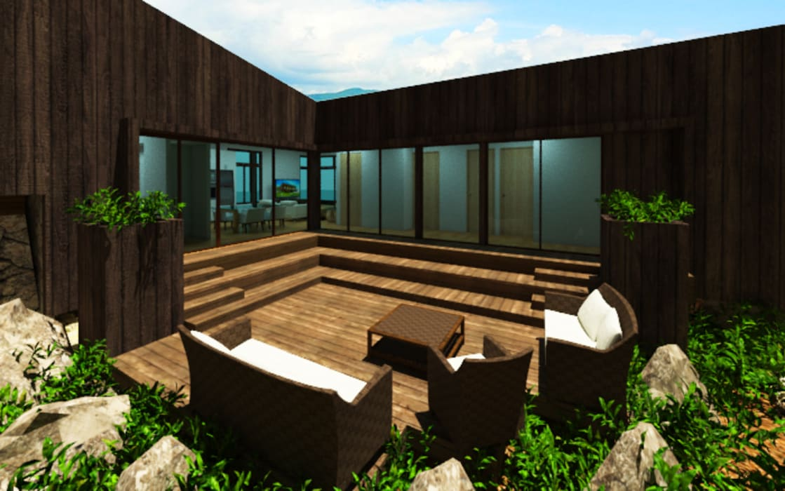 by Arquitecto Javier Escobar Tropical Wood Wood effect