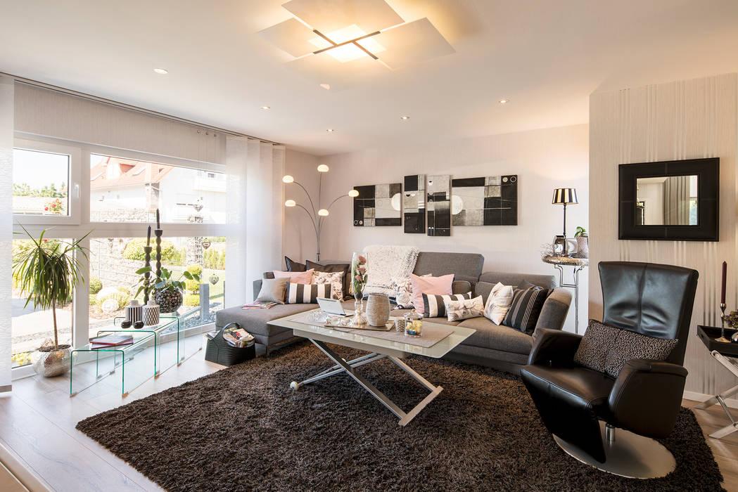 NEO 311 - Neue Ideen für Ihr Zuhause:  Wohnzimmer von FingerHaus GmbH - Bauunternehmen in Frankenberg (Eder)