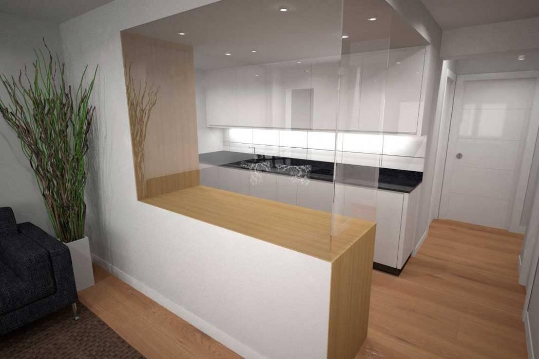 Diseño de cocina con barra cerrada: de estilo de diseño&arquitectura ...