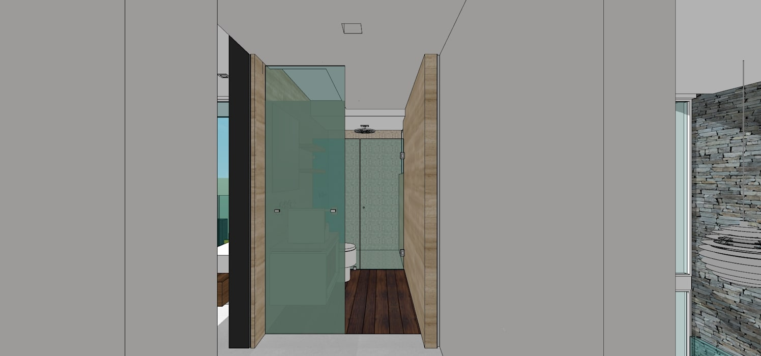 Casa en Barinas: Baños de estilo  por MARATEA Estudio, Minimalista
