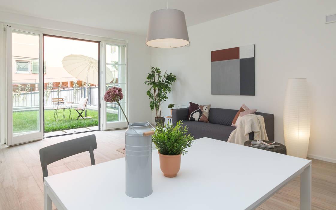 Salones de estilo moderno de Boite Maison Moderno