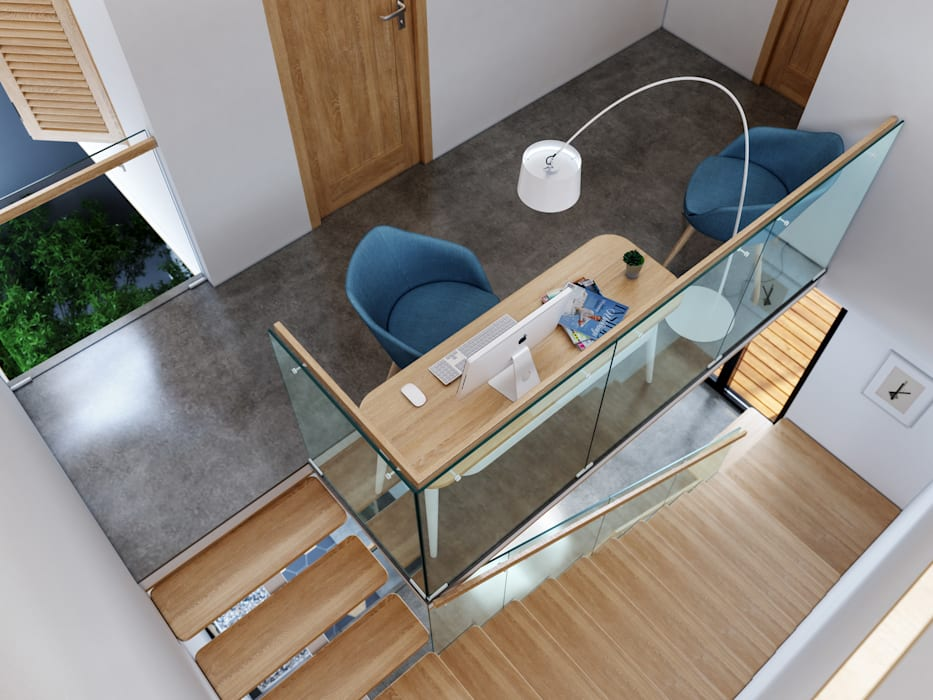 House 516 Scandinavian style study/office by Studio Gritt Scandinavian