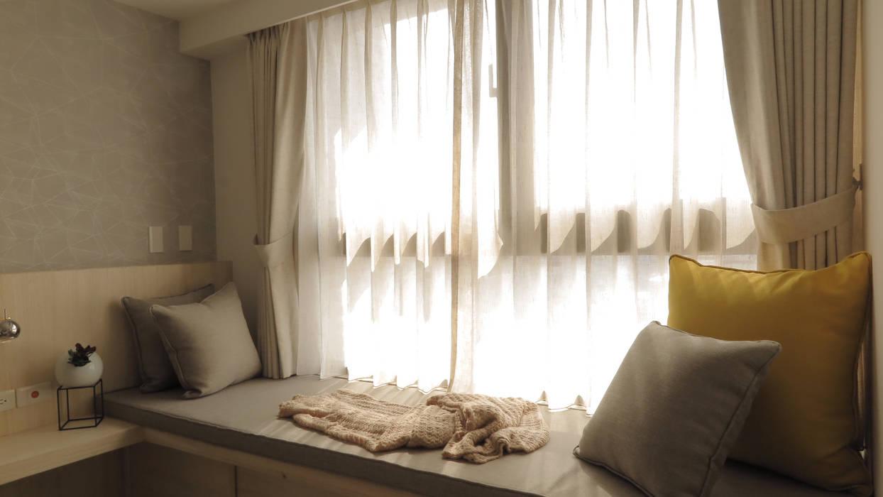 臥榻 Scandinavian style windows & doors by 邑田空間設計 Scandinavian