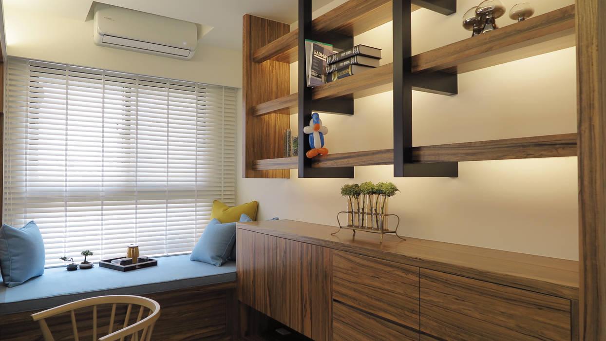 開放式書房 Scandinavian style study/office by 邑田空間設計 Scandinavian
