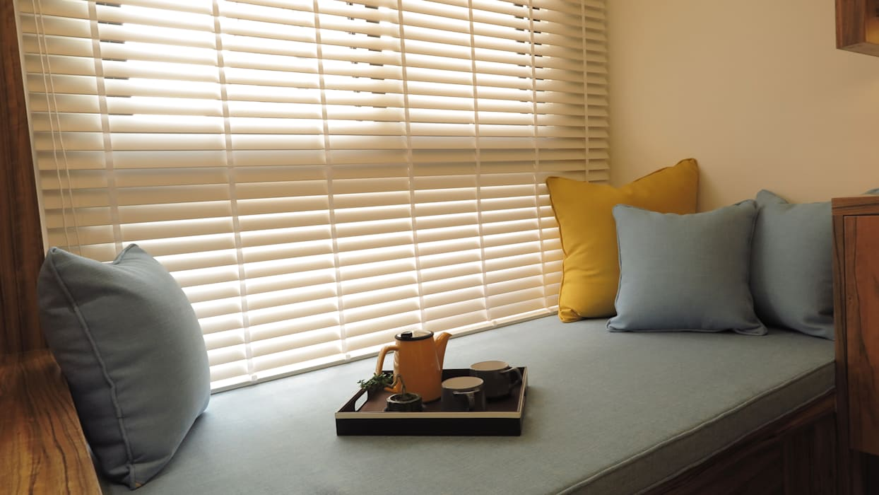 窗邊臥榻及木百葉 根據 邑田空間設計 北歐風