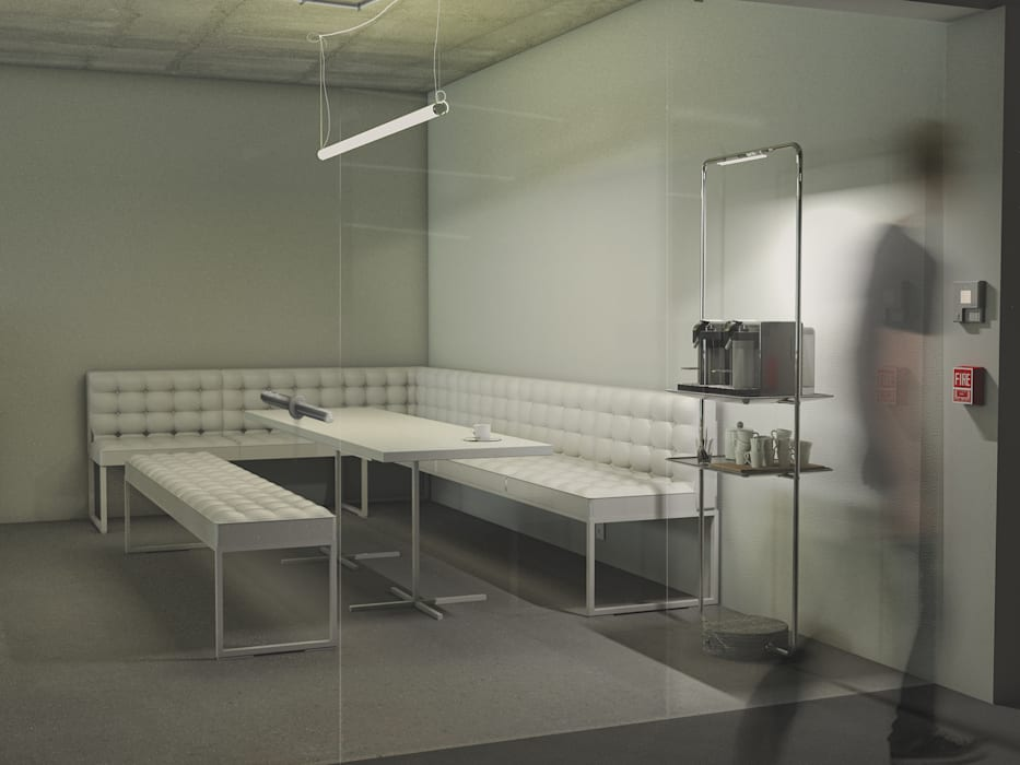 Perspectiva 1 Cozinhas minimalistas por homify Minimalista Betão