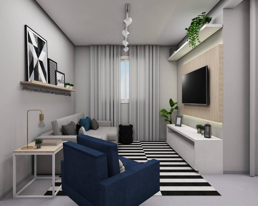 Sala de estar Salas de estar minimalistas por Bruna Schuster Arquitetura & Interiores Minimalista