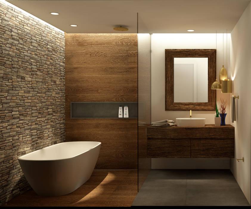 Casa de Banho Belas Clube de Campo - PT: Casas de banho  por Scopo Arquitetura e Interiores,
