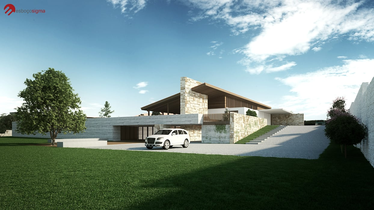 Country house by EsboçoSigma, Lda,