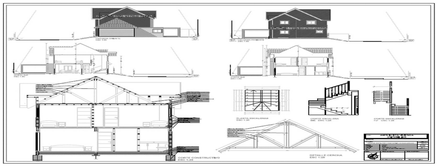 Regularizacion Vivienda Casas de estilo clásico de Aedo Arquitectos & Design Clásico