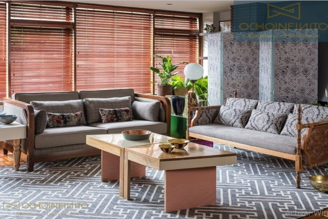 SALA 1 -  OCHOINFINITO : Salas de estilo  por OCHOINFINITO Mobiliario - Interiorismo
