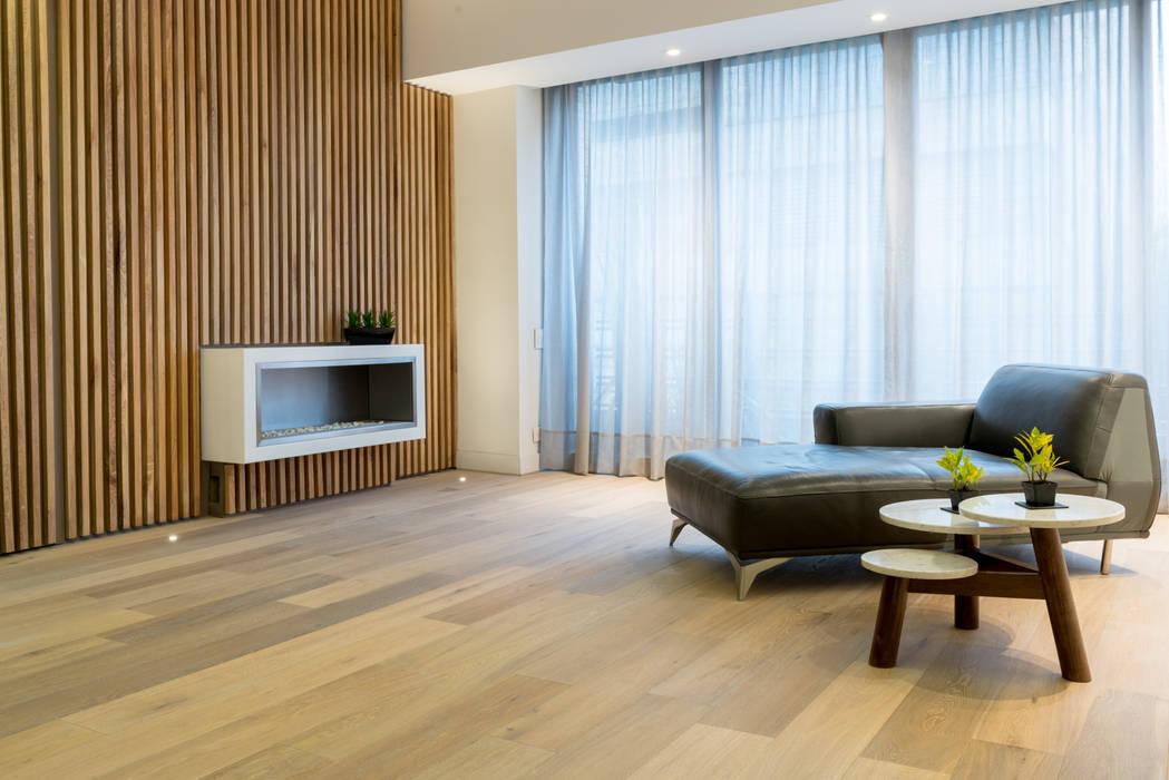 Sala apartamento en Bogota Salas de estilo escandinavo de Pisos Millenium Escandinavo Madera Acabado en madera