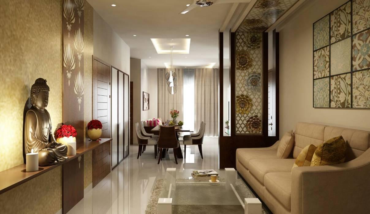 Wohnzimmer von Rhythm  And Emphasis Design Studio