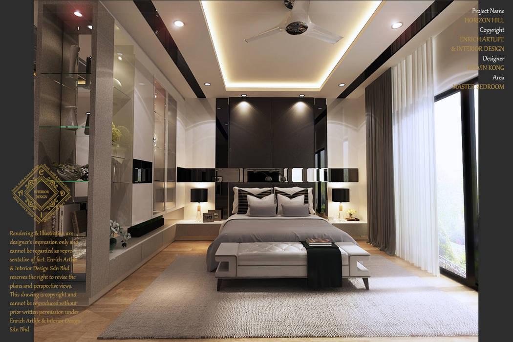 Bungalow Design -Horizon Hill Johor Bahru,Malaysia:  Bedroom by Enrich Artlife & Interior Design Sdn Bhd