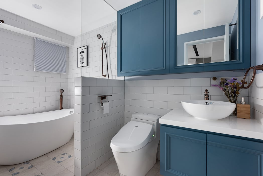 Country style bathrooms by 知域設計 Country