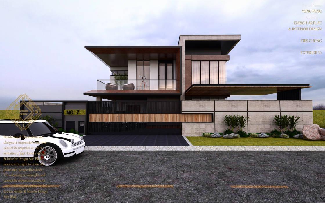 Bungalow Design -Yong Peng Johor Bahru,Malaysia:  Houses by Enrich Artlife & Interior Design Sdn Bhd