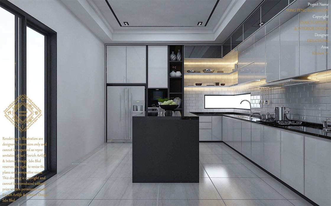 Bungalow Design -Yong Peng Johor Bahru,Malaysia Modern style kitchen by Enrich Artlife & Interior Design Sdn Bhd Modern
