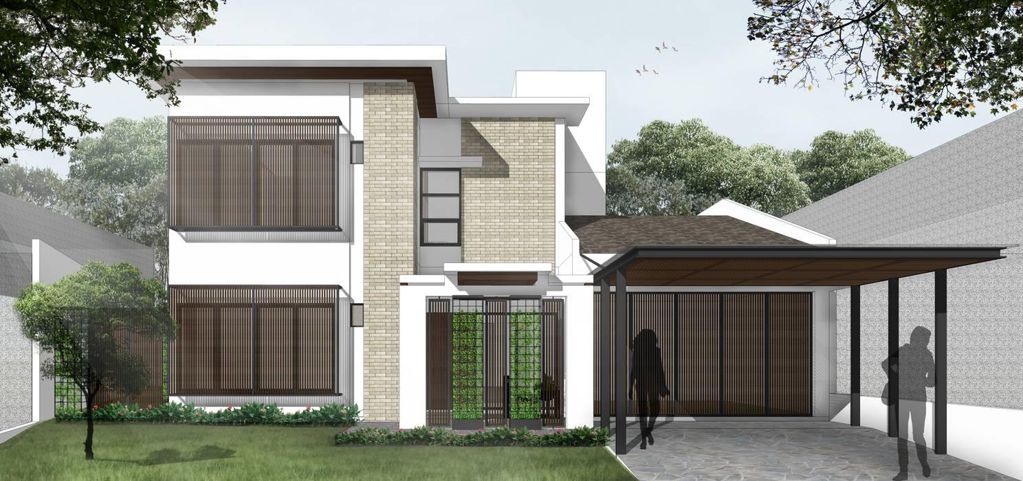 Rumah Tropis Oleh SAE Studio (PT. Shiva Ardhyanesha Estetika) Tropis