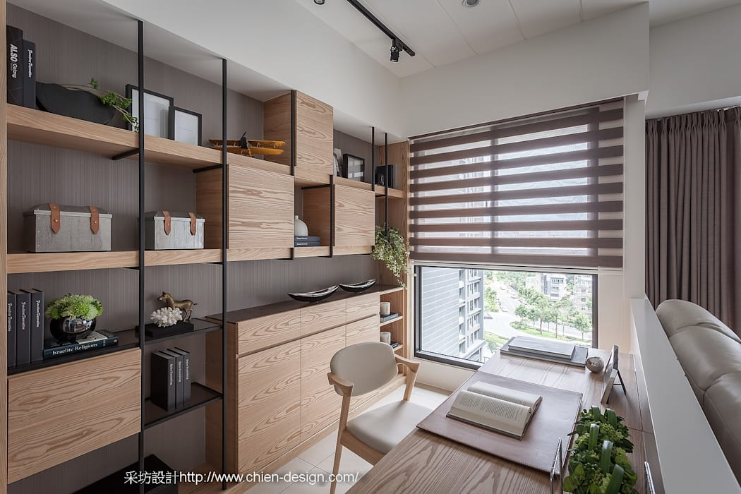 閱讀 Eclectic style study/office by 鼎士達室內裝修企劃 Eclectic Wood Wood effect