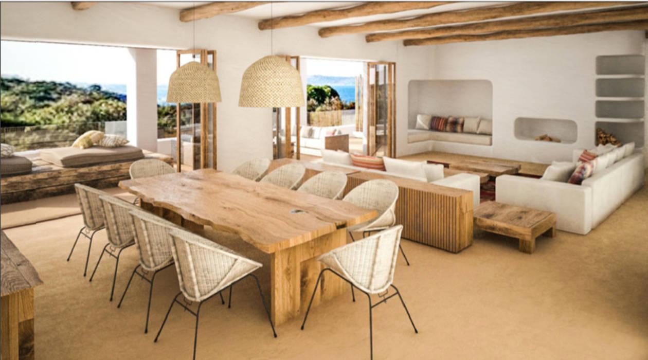 Vivienda Unifamilar - Ibiza - España: Comedores de estilo  por MADBA design & architecture,