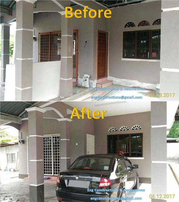 Before/After Pictures by Sam Contractors Ipoh