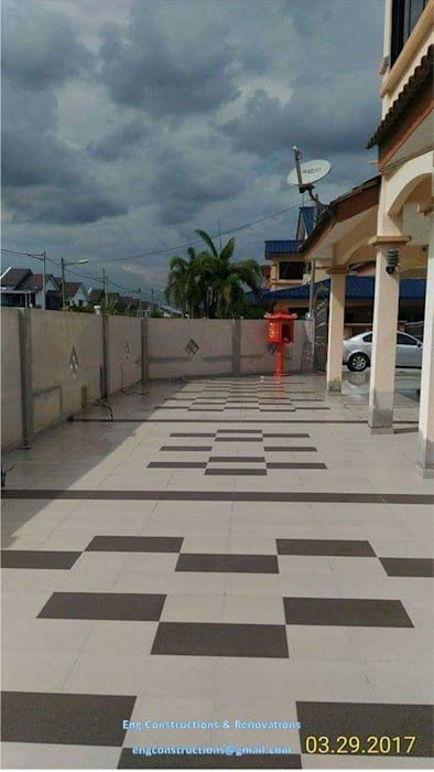 Outdoor Tiling by Sam Contractors Ipoh Modern Ceramic
