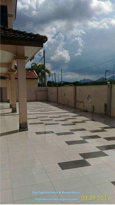 Outdoor Tiling:  Floors by Sam Contractors Ipoh