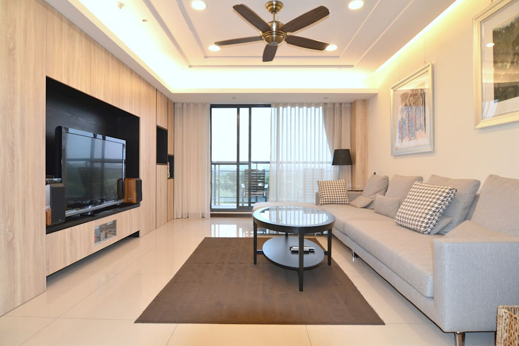 公共區域:  客廳 by 奇恩室內裝修設計工程有限公司