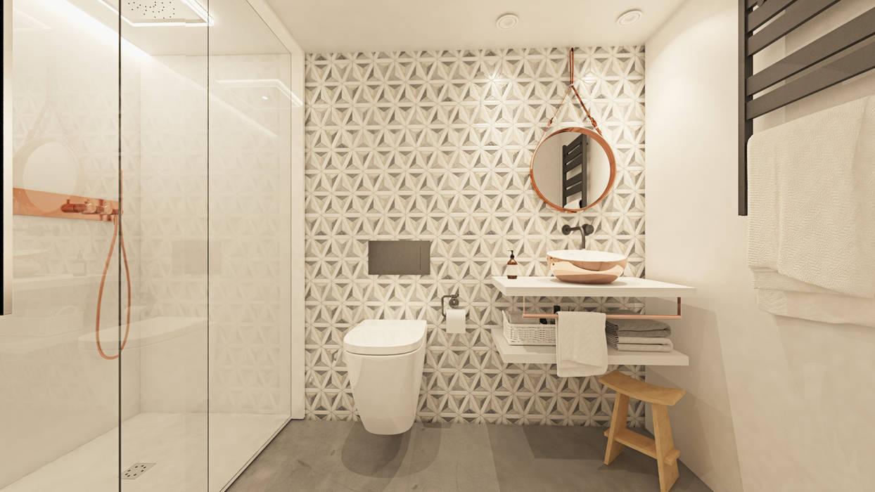 Baños de estilo  por La Pecera Estudio Creativo