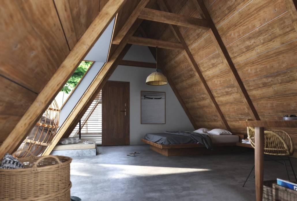 Han House Rustic style bedroom by Studio Gritt Rustic