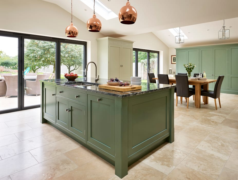 Canterbury | A Vision In Green:  Kitchen by Davonport