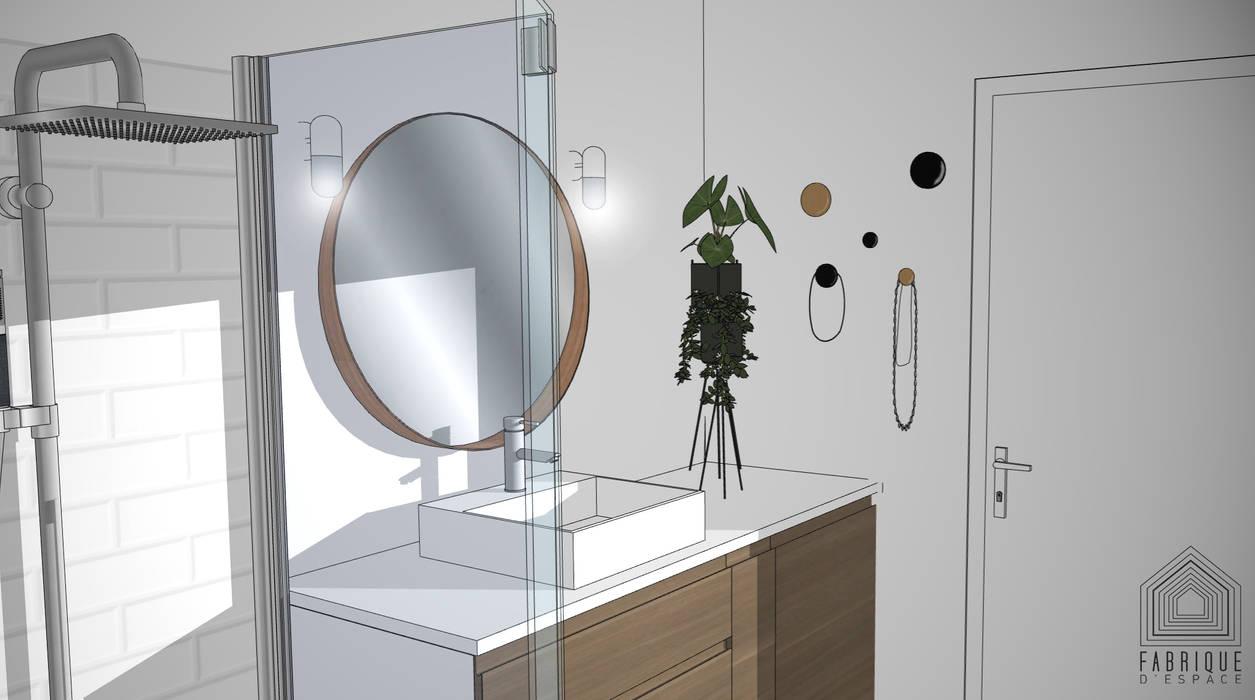 Salle de bains// fenêtre d'atelier // Appartement La Garenne-Colombes: Salle de bains de style  par FABRIQUE D'ESPACE