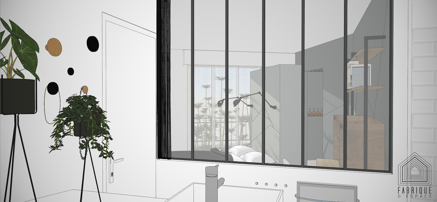 Fenetre Salle De Bain salle de bains// fenêtre d'atelier // appartement la garenne