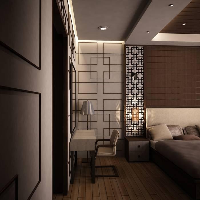 kamar tidur nuansa asia Kamar Tidur Gaya Asia Oleh Livint design Asia Kayu Lapis