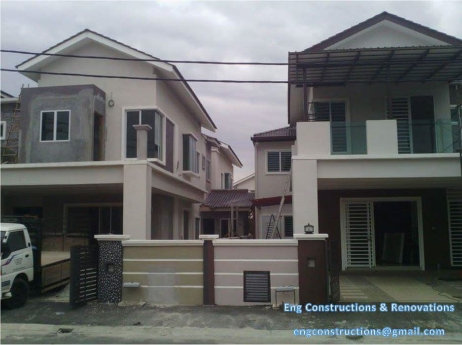 Garajes abiertos de estilo  de Sam Contractors Ipoh, Asiático Aluminio/Cinc