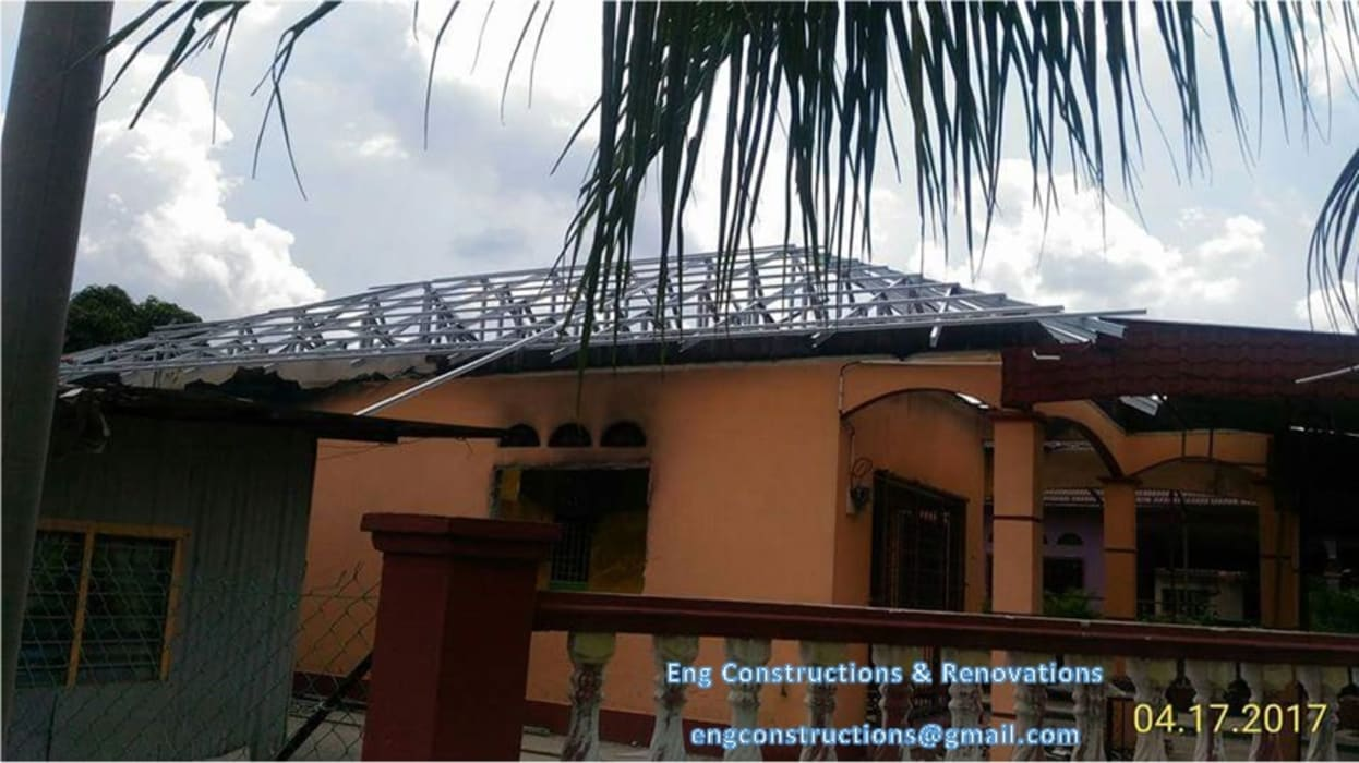 Fire Insurance Claim:  Terrace by Sam Contractors Ipoh,