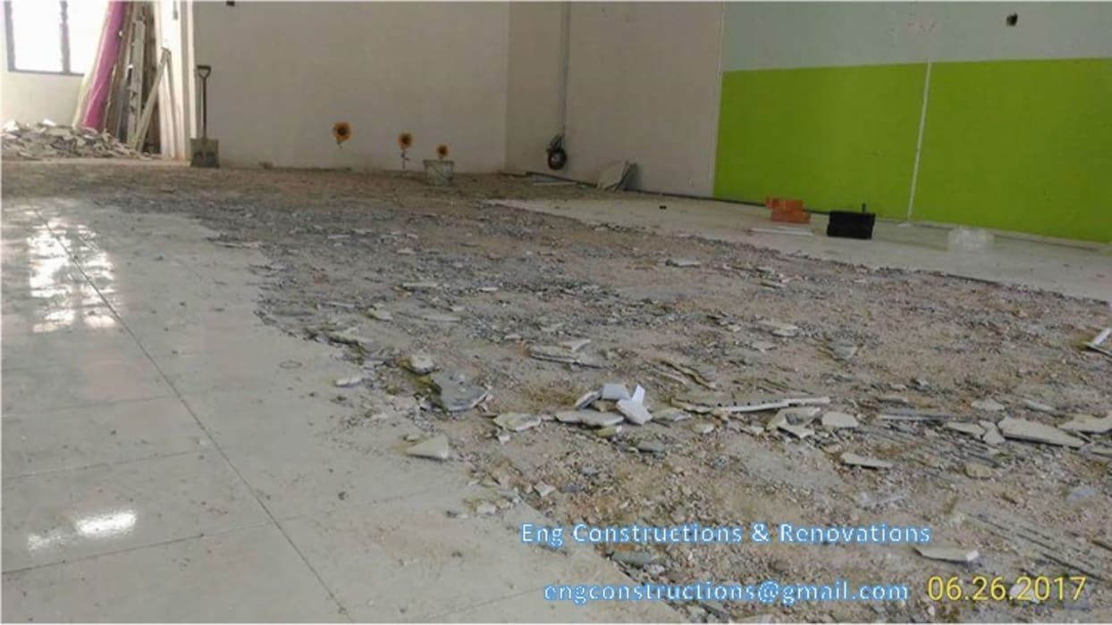 Shoplot Tiling:  Floors by Sam Contractors Ipoh