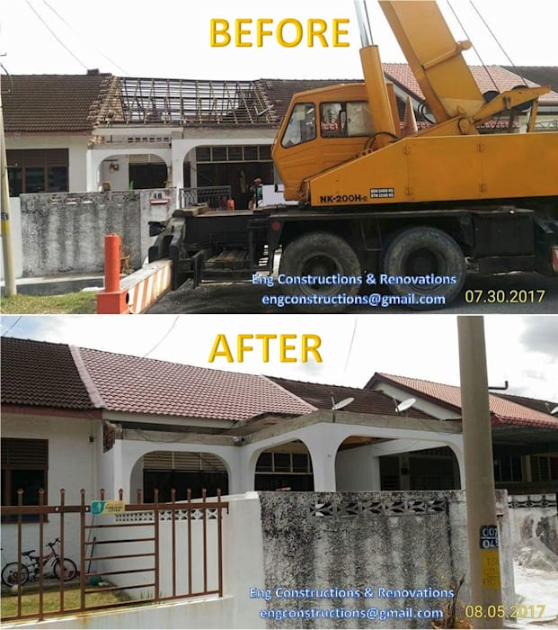 Roofing:  Roof by Sam Contractors Ipoh,