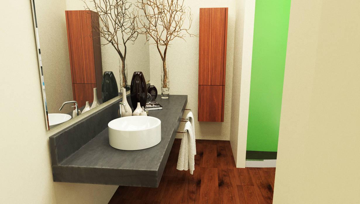bagno al piano primo: Bagno in stile in stile Moderno di Studio Bennardi - Architettura & Design