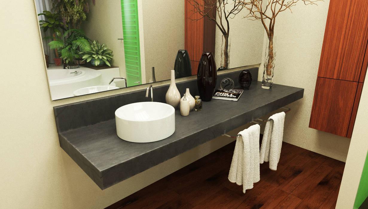 bagno al piano primo: Bagno in stile  di Studio Bennardi - Architettura & Design