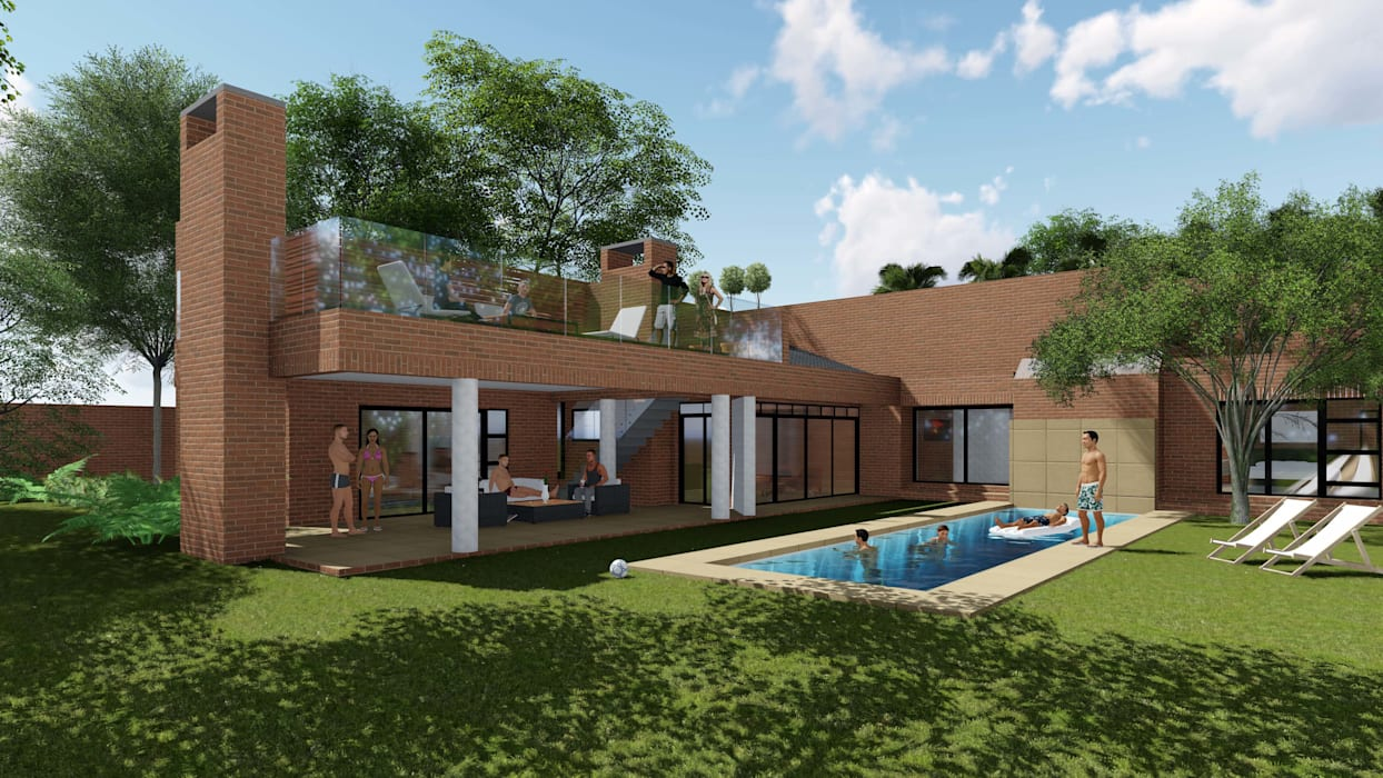 Residence Benvenuti - Entertainment Patio Alteration and Extension:  Patios by Pieter Pieters Architect