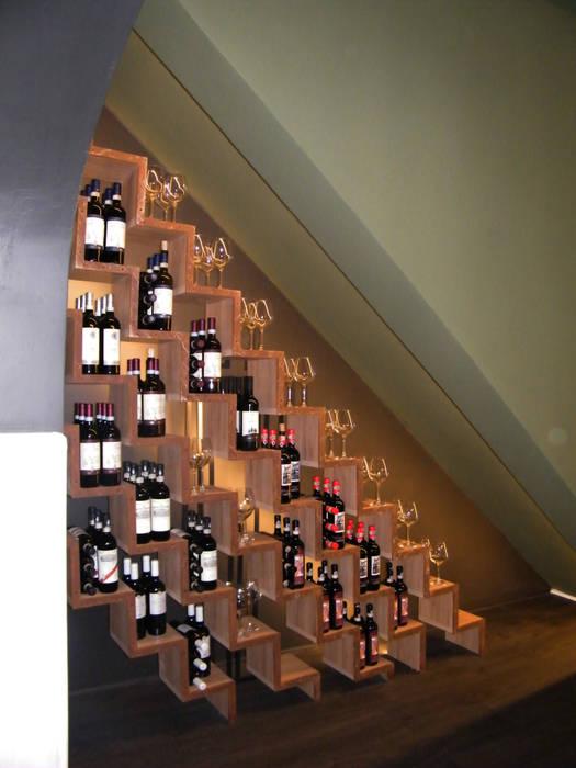 La Bohème - Restaurant & Café - Florence: Sala multimediale in stile  di Studio Bennardi - Architettura & Design