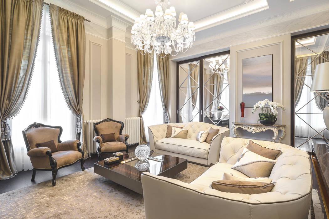 Interior of a residence in Italy: Soggiorno in stile in stile Eclettico di NG-STUDIO Interior Design